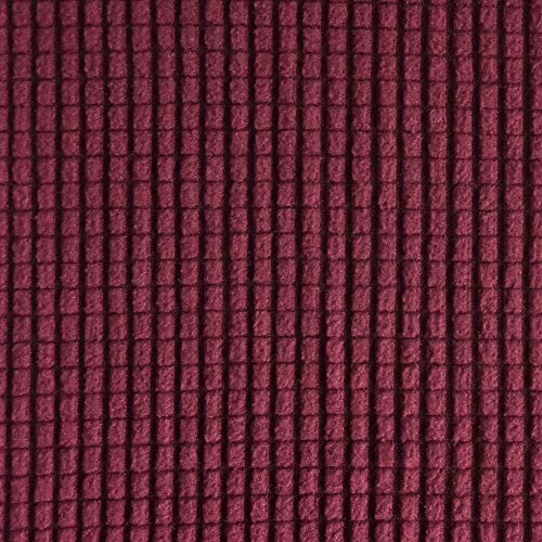 RHF Jacquard Stretch 2-Piece Sofa Cover, 2-Piece Slipcover for Leather Couch-Polyester Spandex Sofa Slipcover&Couch cover for dogs, 2-Piece sofa protector(Sofa: Burgundy) by Rose Home Fashion (Image #3)