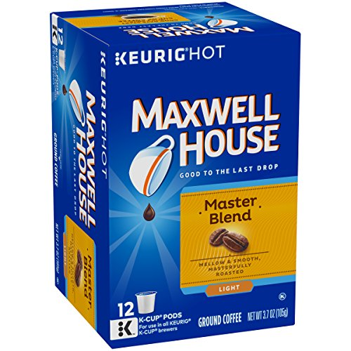 Maxwell House Master Blend Light Roast Keurig K-Cup Coffee Pods (12 Count) ()