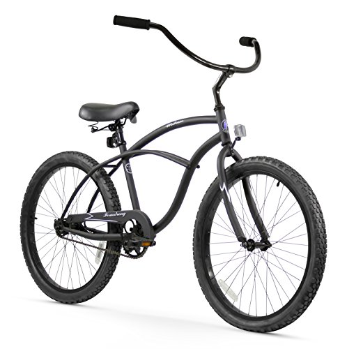Firmstrong Urban Man Single Speed Beach Cruiser Bicycle, 24-Inch, Matte (Boys Cruiser)