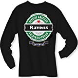 4u4design Football- Long Sleeve Ravens Beer Shirt - Sizes up to 6XL