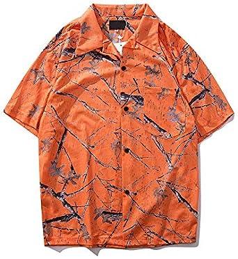 DXHNIIS Cuello Redondo Material de Malla Camisas para Hombres ...