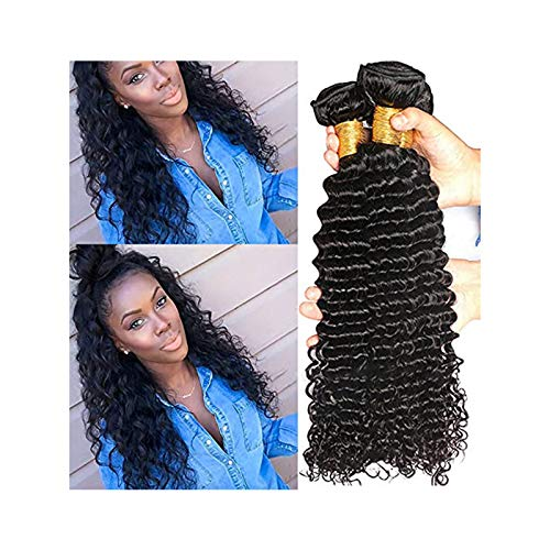 Human Hair Wigs Body Wave Lace Closure Wig Human Hair,Black Wavy Wig for Women, Black Wig with Bangs Long, Human Hair Bundles Brazilian Hair Weave Bundles Natural Black Color Wavy Hair (B, 18inch)