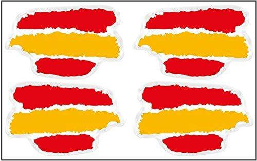 Artimagen Pegatina Bandera Trazos 4 uds. España Resina 33x21 mm/ud.: Amazon.es: Coche y moto