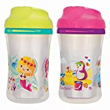 NUK Gerber Graduates 2 Piece Advance with Seal Zone Insulated Cup-Like Rim Sippy Cup, Girl, 9 Ounce (Designs May Vary)