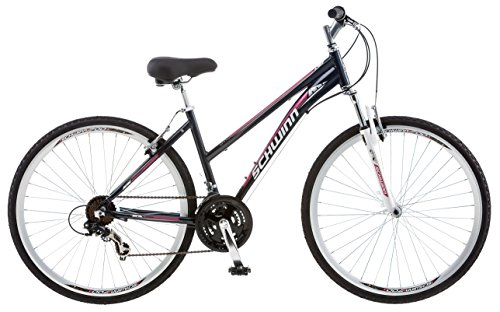 Schwinn GTX Comfort Hybrid Bike Line with Front Suspension, Featuring 16-18-Inch Aluminum Step-Through or Step-Over Frame and 21-24-Speed Shimano Drivetrain with 700c Wheels, Disc Brakes Available