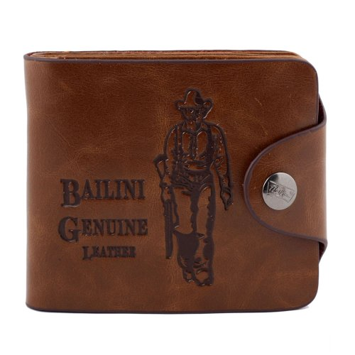 Price comparison product image Catalina Men's Genuine Leather Bifold Wallet Credit ID Card Purse (Brown)