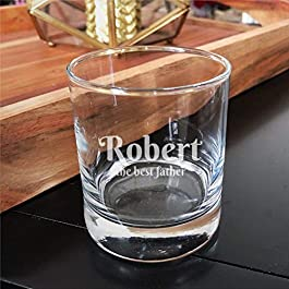 Custom Text Crystal Stemless Wine Glass,Engraved Whiskey Glass Shot Glass,Perfect For Father Mom Boy Or Girl Friend…