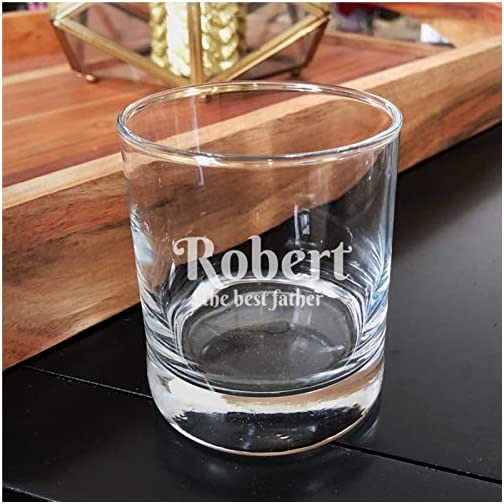 Custom Text Crystal Stemless Wine Glass,Engraved Whiskey Glass Shot Glass,Perfect For Father Mom Boy Or Girl Friend… |