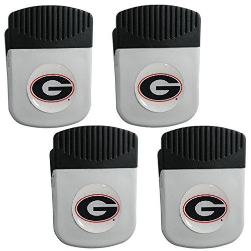 (Siskiyou NCAA Georgia Bulldogs Clip Magnet with Bottle Opener, 4 Pack)