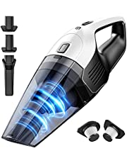 Handheld Vacuum Cleaner 8000Pa Powerful Suction, Cordless Wet Dry Hand Vac With 100W Rechargeable 14.8V Lithium Quick Charge Tech, Double HEPA Filter, Lightweight Vacuum for Home Pet Hair Car Cleaning