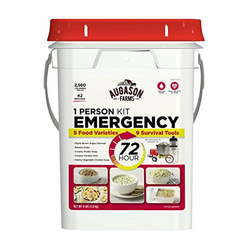 Augason Farms 72-Hour 1-Person Emergency Food Storage Kit with Survival Gear 4 lbs by Augason Farms