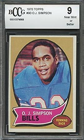 Amazoncom 1970 Topps 90 Oj Simpson Buffalo Bills Rookie