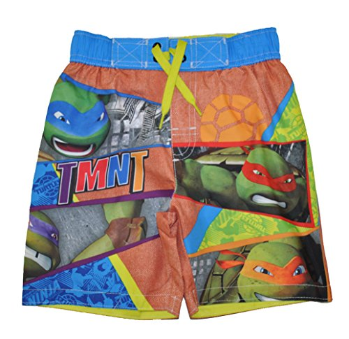 Nickelodeon Big Boys' Teeenage Mutant Ninja Turtles Swim Trunk, Sky Blue, 7 ()