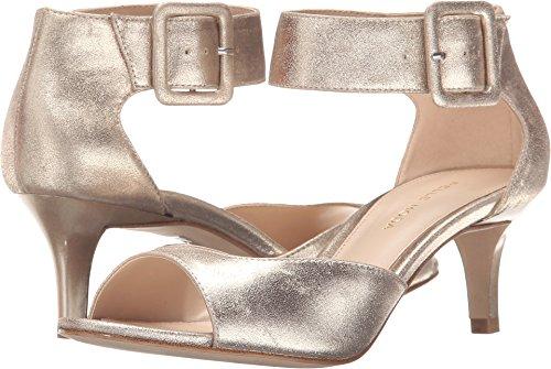 (Pelle Moda Women's Berlin Platinum Gold Metallic Kid Suede Sandal)
