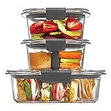 Rubbermaid Brilliance Almacenamiento de Alimentos Contenedor, 100% Prueba de Fugas, de plástico, transparente, juego de sándwich/aperitivos, Sandwich/Snack Set, 1