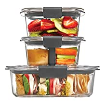 Rubbermaid Brilliance Food Storage Container, 10-Piece Sandwich/Snack Lunch Kit, 100% Leak-Proof, Plastic, Clear