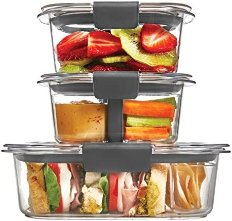 Rubbermaid Brilliance Food Storage Container, 10-Piece Sandwich/Snack Lunch Kit