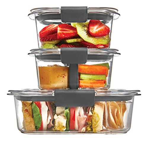 Rubbermaid Brilliance Food Storage Container, Sandwich and Snack Lunch Kit, Clear, 10-Piece Set 1997842 by Rubbermaid
