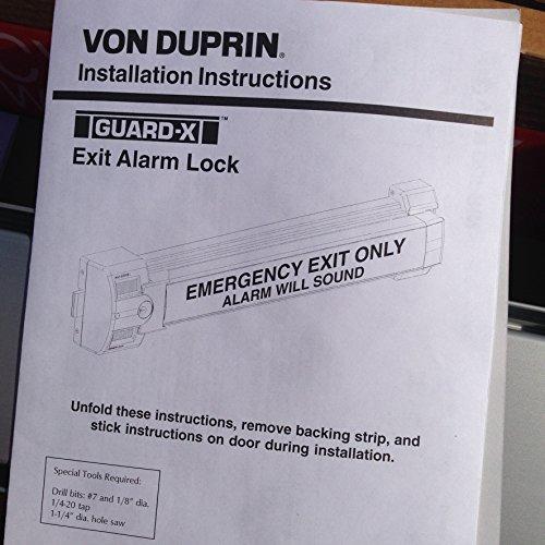 Von Duprin 3327AEO26D4 3327A-EO US26D Surface Vertical Rod Device 4 4/'