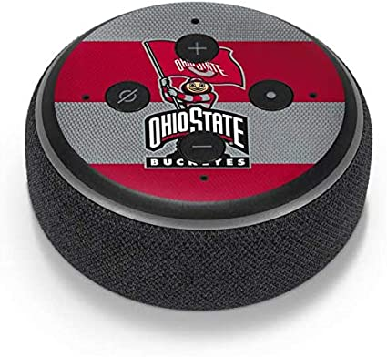 Skinit Decal Audio Skin Compatible with  Echo Dot 2nd Gen 2016 Officially Licensed Ohio State University OSU Ohio State Logo Design