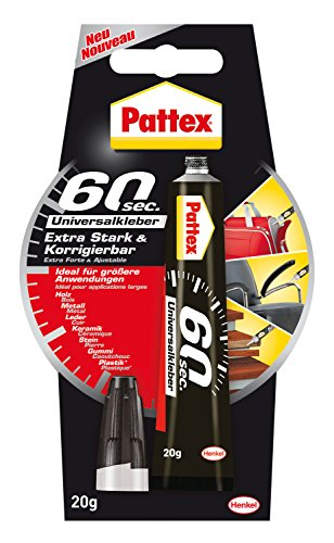 Pattex 60 Sekunden Universalkleber Extra Stark und Korrigierbar, PUK6K