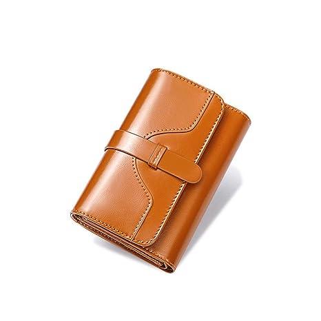 Monedero bolso de mujer Cartera para mujer Cuero genuino ...