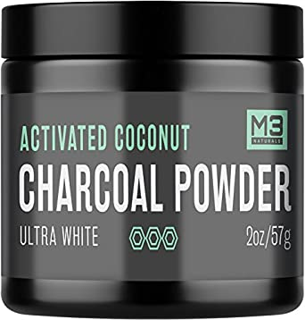 Premium Teeth Whitening Charcoal Powder - All Natural Coconut Activated Charcoal and Bentonite Clay - Highest Quality & 2X Value - Whitening