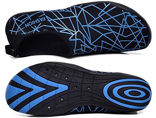 Noir Enfant Sport Chaussons 46 809 Aquatique Plage 35 D'eau Femme Piscine De Plongée Gjrrx Chaussure Bleu Pour Homme Natation qT8BW