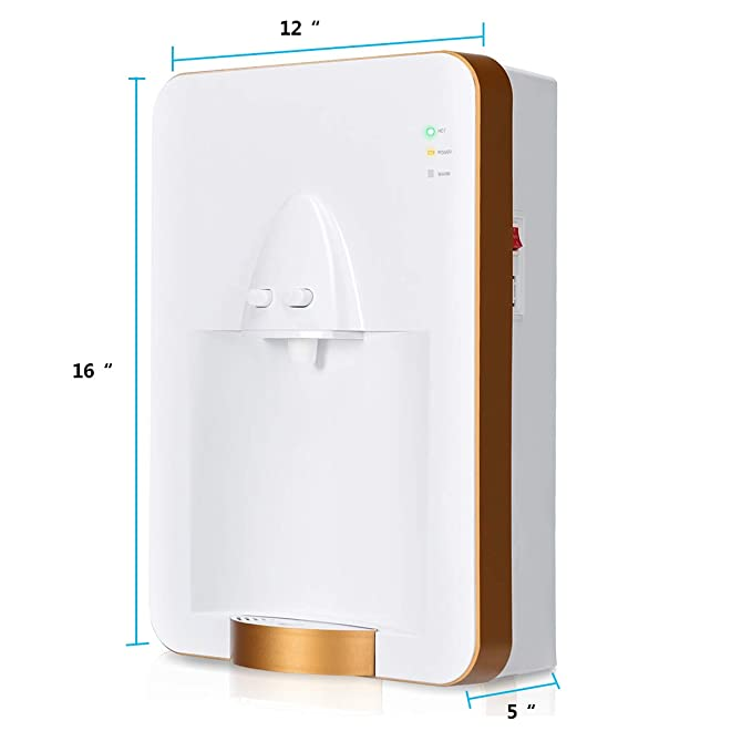 Goplus Small Water Dispenser Pipeline Wall-mounted, Quick Heating Warm and Hot Water Suitable for Home & Office - - Amazon.com