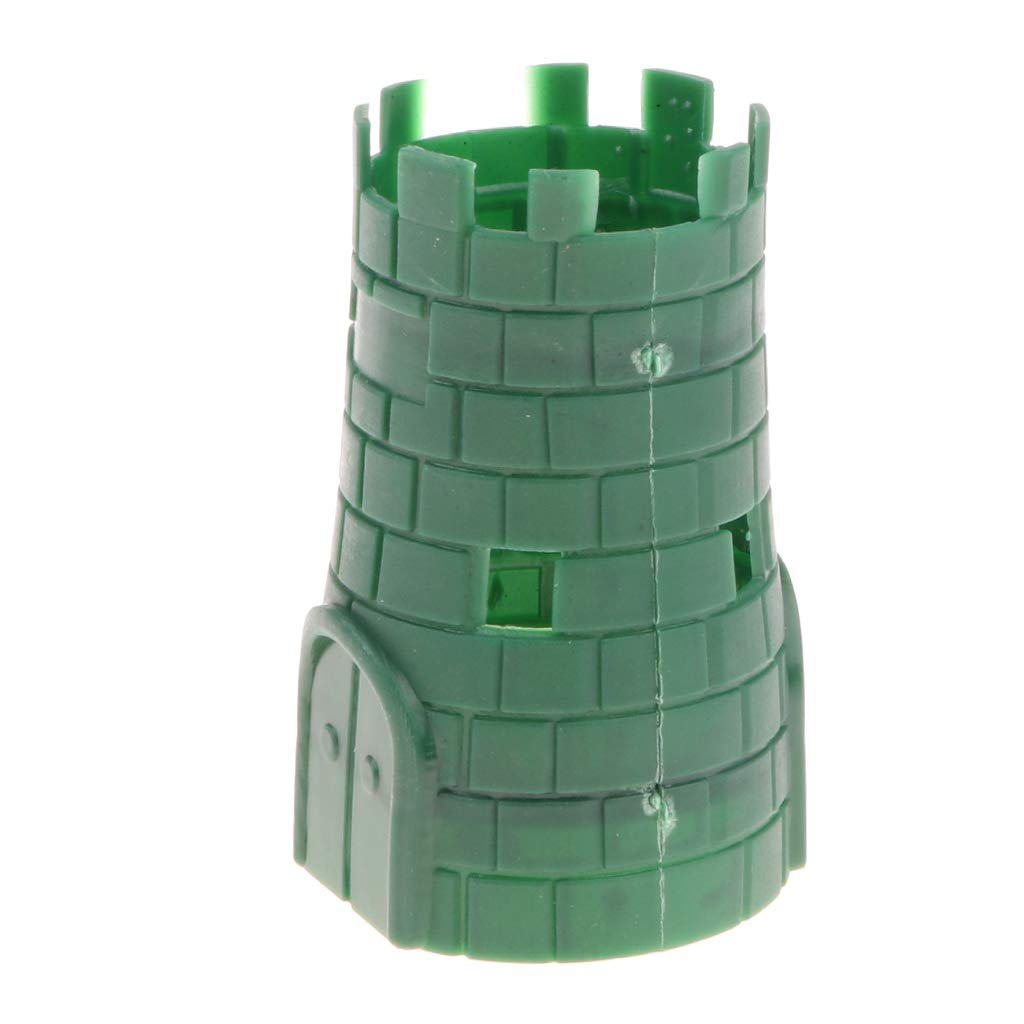 Homyl 5pcs Army Base Model Plastic Toy Soldiers Army Men Accessories Blockhouse
