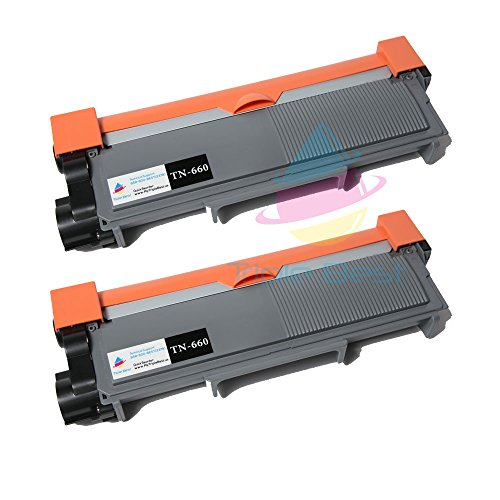 Triple Best 2 Pack Compatible Laser Toner Cartridges for Brother TN660 (TN-660) High Yield Black Compatible Laser Toner Cartridge