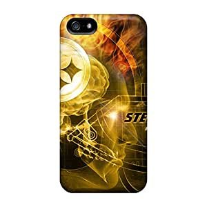 Great Hard Phone Case For Iphone 5/5s With Unique Design Nice Pittsburgh Steelers Image KerryParsons