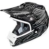 Troy Lee Designs One Shot SE3 MotoX/Off-Road/Dirt Bike Motorcycle Helmet - White (Carbon Fiber) / Large