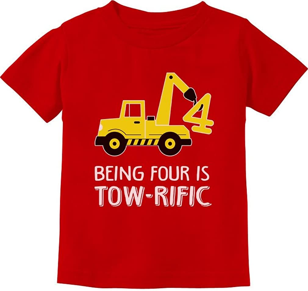 Tstars 4th Birthday Tractor Construction Party Toddler Kids T-Shirt