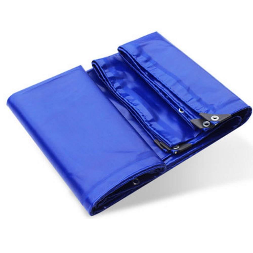 NAN Plane Outdoor wasserdicht Sonnenschutz LKW Öl Leinwand Shelter Tuch Wärmedämmung 0,6 mm -650g / m² (Farbe : Blau, größe : 5  7m)