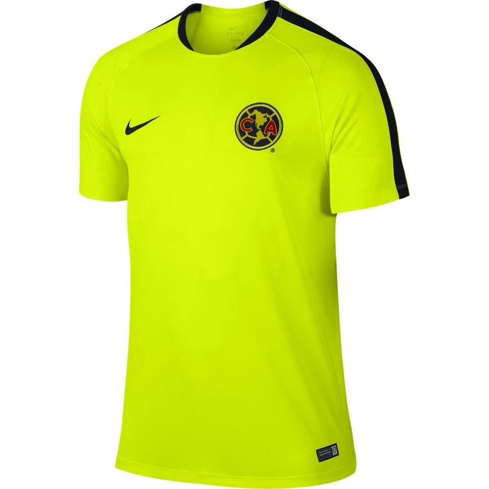 Nikeサッカーレプリカジャージー: Nike Club Americaフラッシュトレーニングレプリカサッカージャージー15 / 16 L B012TRMEQE Medium|イエロー イエロー Medium