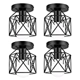 Lakumu 4 Pack Industrial Semi Flush Mount Ceiling