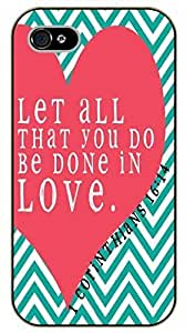For SamSung Galaxy S5 Case Cover Let all that you do be done in love. 1 Corinthians 16:14 - black plastic case / Inspirational and motivational Bible verse, biblical, verses