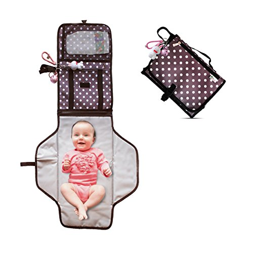 Shayaan Baby Diaper Changing Pad-Portable Diaper Changing Station for Home & Travel- Waterproof & Washable Diaper Changing Mat- Infant and Toddler Reusable Diaper Changing Kit-Bonus Baby Toy by Shayaan eTrading Co.