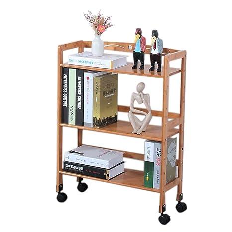 Amazon.com: Carrito de cocina de bambú para servir carritos ...