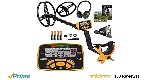 Amazon.com : Garrett Ace 400 Metal Detector with Waterproof Coil and Headphone Plus Accessories : Garden & Outdoor