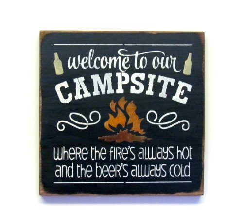 Camping Wood Sign / Campsite Decor / Welcome to Our Campsite (Campsite Signs)