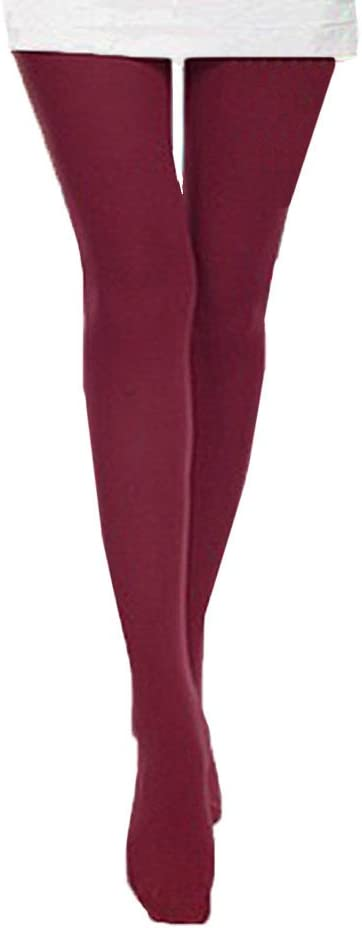 Fashion Women Autumn Long Opaque Candy Solid Color Leggings Tight Trample Socks