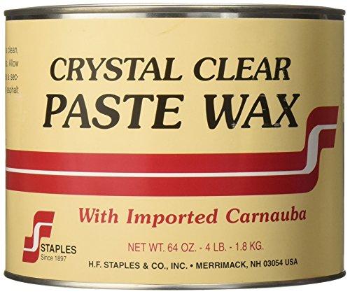 Staples 212 Carnauba Paste Wax, 4-Pound, - Crystal Wax Clear