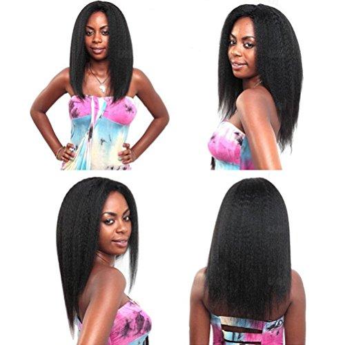- Shengqi Yaki Hair Bundles Wet and Wavy Virgin Malaysian Hair Thick Bundles Natural and Beautiful Mixed Length Natural Black Color 14 16 18