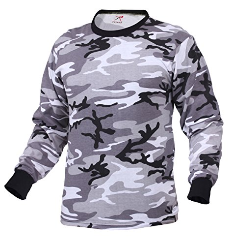 Rothco Long Sleeve Colored Camo T-Shirt, City Camo, M