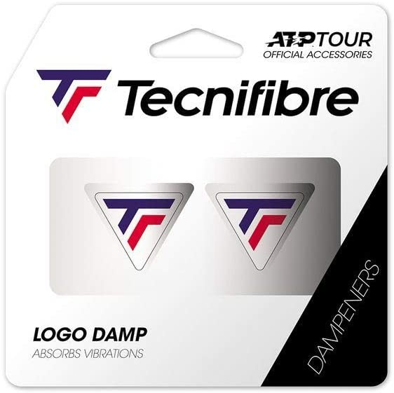 Tecnifibre Logo Damp - Antivibración de Tenis para Adulto, Unisex, Tricolor, 2 Unidades