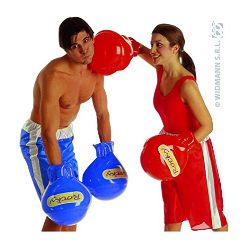 Inflatable Boxing Lace Lycra & Neon Gloves For Fancy Dress Costumes Accessory (Fancy Dress Boxing Gloves)