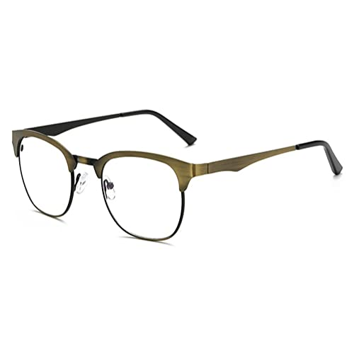 Hombres Mujeres Anti Blue Light Glasses – Anteojos Metal Frame Clear Lens Glasses Frame – hibote