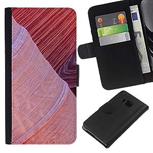 Ihec-Tech / Flip PU Cuero Cover Case para HTC ONE M7 - Plant Nature Forrest Flower 99